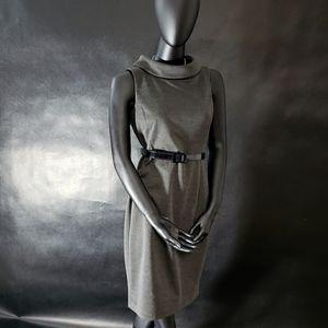 Mid century modern dress with black belt